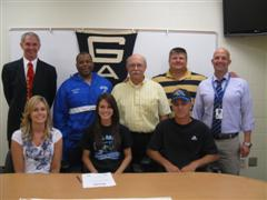 Samantha Barnes, (front row, center) of Gallia Academy, is the latest signee for the URG T/F Program
