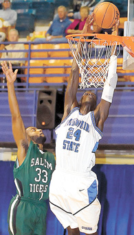 Bruce Komakech, shown here playing for Mountain State in a game last season against Salem, is transferring to Rio Grande.