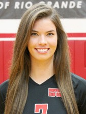 Junior Alex Phillips led Rio Grande in kills in three of its four weekend matches