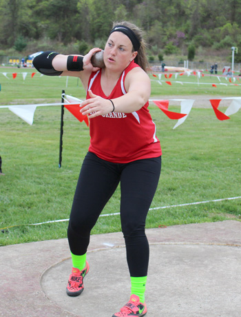 Rio Grande junior Carrie Coriell was named KIAC Outdoor Field Athlete of the Week on Monday
