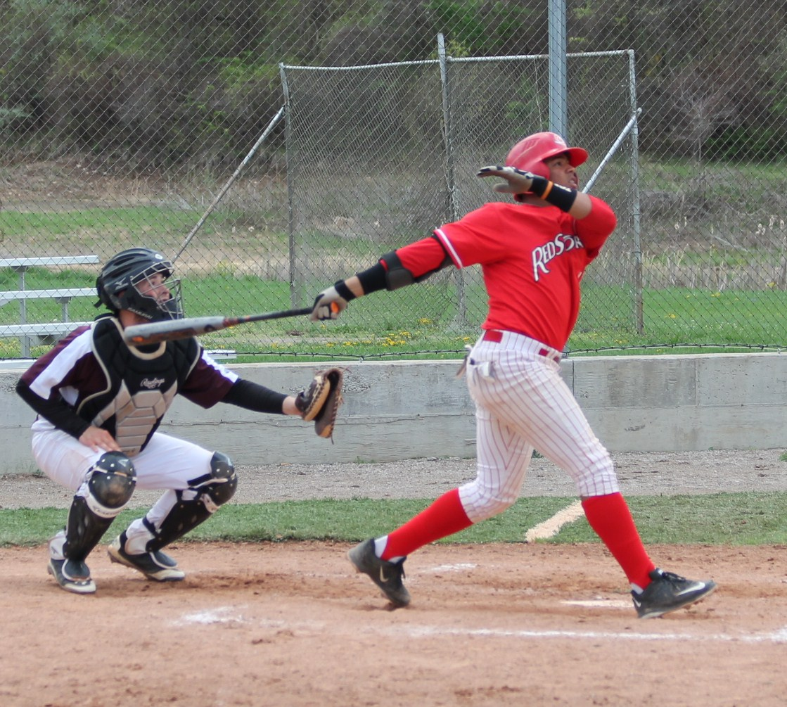 Freshman Evelier Jimenez connects for one of his two home runs in Monday's win over Central Penn