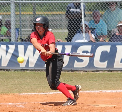 Rio's Jessi Robinson had both of her team's hits in Tuesday's 8-0 NAIA tourney loss to USC-Beaufort