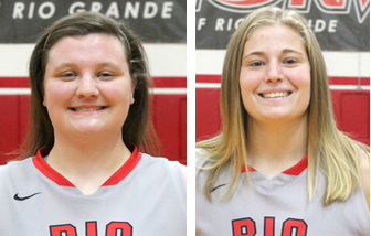 Gallia County natives Morgan Daniels (left) and Brooke Marcum (right) were keys to Rio's success in 2014-15
