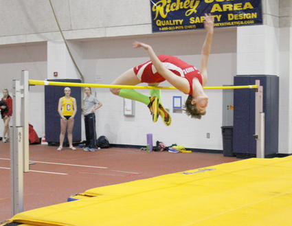Rio freshman Tyanna Petty set a new school record in the high jump at Friday's Cedarville Invitational