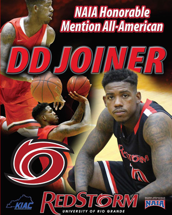 Rio Grande senior D.D. Joiner was named an honorable mention NAIA Division II All-American on Thursday