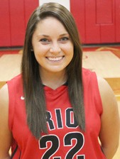 Junior guard Aly Herren hit six of Rio Grande's 11 three-pointers in Tuesday's win over Midway