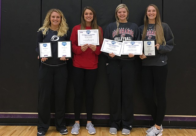 From left to right, Rio's Chandler Brown, Autumn Snider, Aleah Pelphrey and Kayla Briley earned All-RSC honors