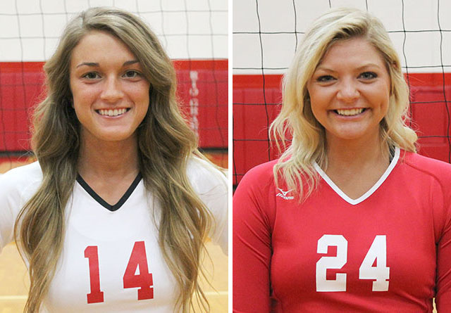 Rio Grande's Autumn Snider (left) and Aleah Pelphrey (right) were named Daktronics-NAIA Scholar-Athletes