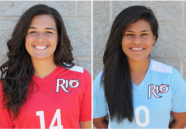 Rio Grande's Jenna Jones (left) and Andrea Vera (right) were named to the All-RSC Second Team
