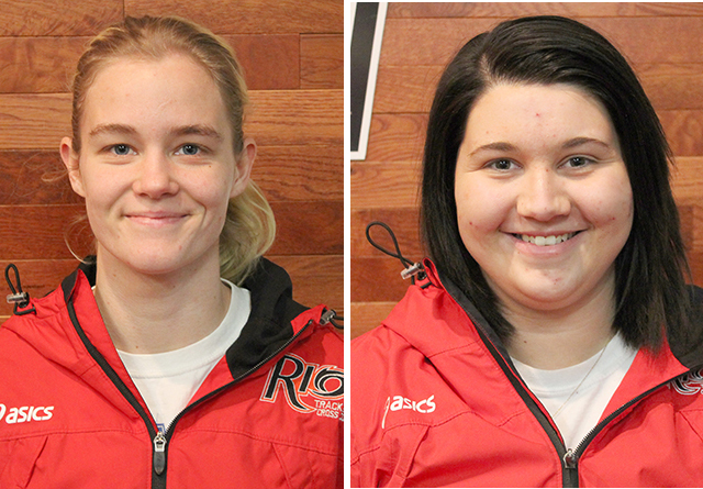 Rio's Tyanna Petty (left) and Katie Roberts (right) were named Women's Outdoor Track and Field Athletes of the Week on Monday