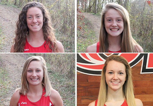 Rio Grande's (clockwise from upper left) Alex Ellis, Keri Lawrence, Rachel Ball and Andrea Hunt have been named NAIA Scholar-
