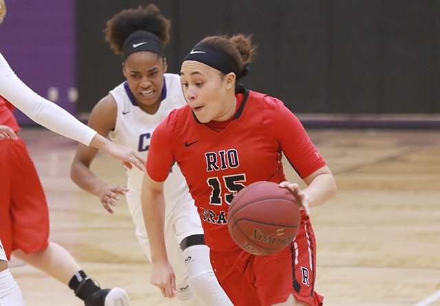 Rio Grande senior Sharday Baines was named the RSC Player of the Week on Monday