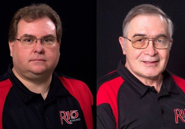 Bret Little (left) and Phil Karl (right) have been named head coach and assistant coach, respectively, of Rio's new bowling p