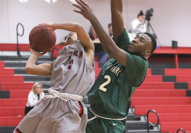 Rio's Will Hill knifes his way toward the bucket during Friday night's win over Point Park
