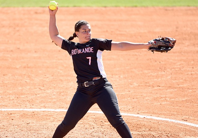 Rio Grande senior Jenna Jones was named the RSC Pitcher of the Week on Monday