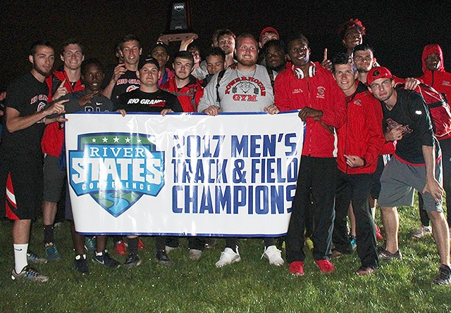 Rio Grande captured its third consecutive men's track & field conference championship on Saturday