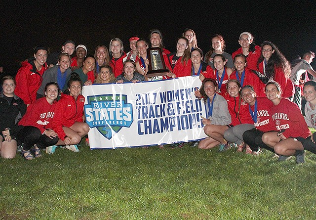 The Rio Grande women's track and field captured their third straight conference title on Saturday in Pittsburgh, Pa.