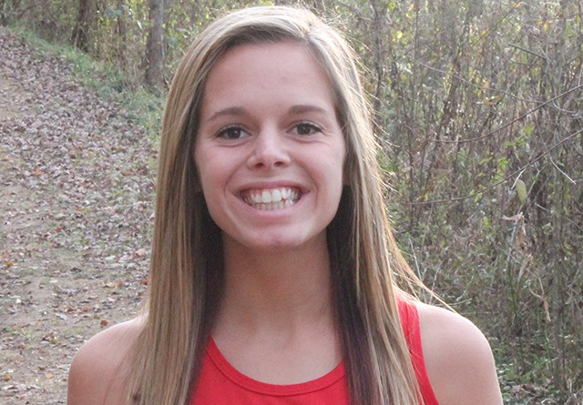 Rio's Emili Sannes finished first in the 1,000-meter run at Saturday's Otterbein Invitational