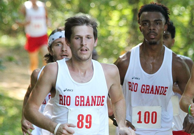 Rio's Kameron Carpenter (left) was the RedStorm's top finisher in Saturday's Patty Forgey Invitational