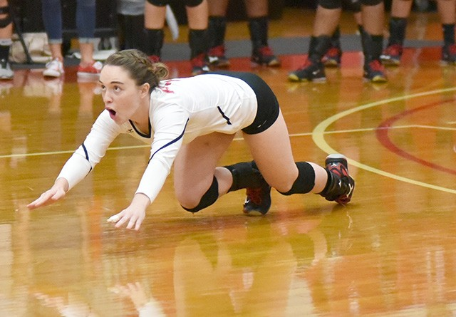 Rio's Katie Hemsley had a match-best 31 digs in Tuesday night's 3-1 loss at Kentucky Christian