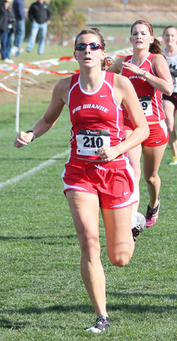 Rio Grande's Brittany Piccone leads a list of seven RedStorm tracksters named Academic All-MSC