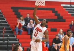 Rio's Kenny Council scores two of his career-high 17 points in Saturday's 95-73 win over Carlow