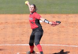 Rio's Kelsey Conkey tossed a two-hit shutout in the RedStorm's DH split with Coastal Georgia on Sunday