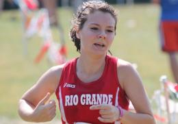 Rio's Maggie Dellinger had the second-best showing for the RedStorm in Friday's All-Ohio Championships