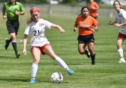 Payten Davis scored her team-high fourth goal in Saturday's win at Midway