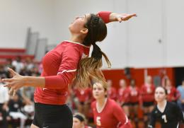 Rio's Patricia Dennis and her RedStorm teammates fell to Indiana Southeast and Brescia on Saturday